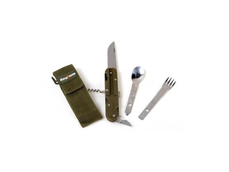 фото Ложка Вилка Нож King Camp 3643 Multi Camp Kit