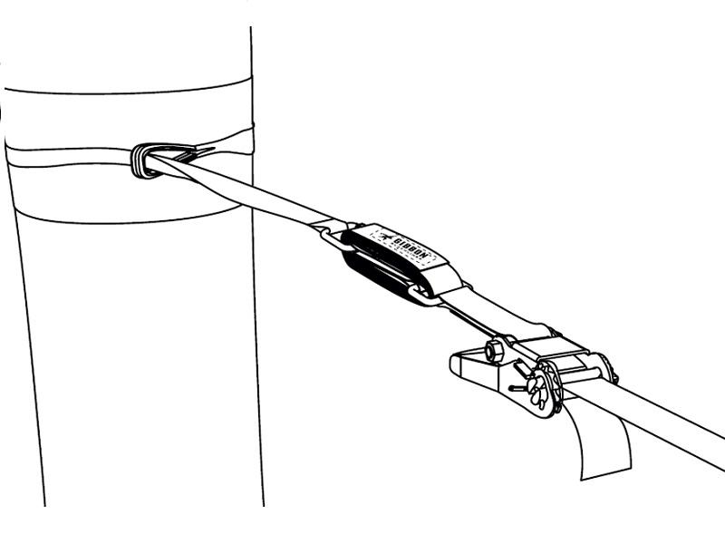 фото Гаситель вибрации стропы Gibbon Slow Release (5х45 см)