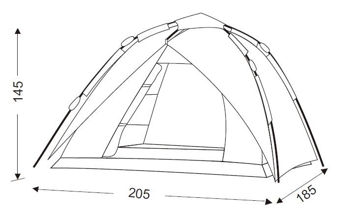 фото King Camp - Палатка двухместная 3091 LUCA Fiber