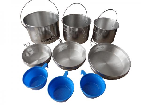 Комплект посуды алюминиевый AVI-OUTDOOR