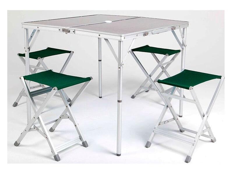 фото Походный стол с табуретами на 4 человека Maverick