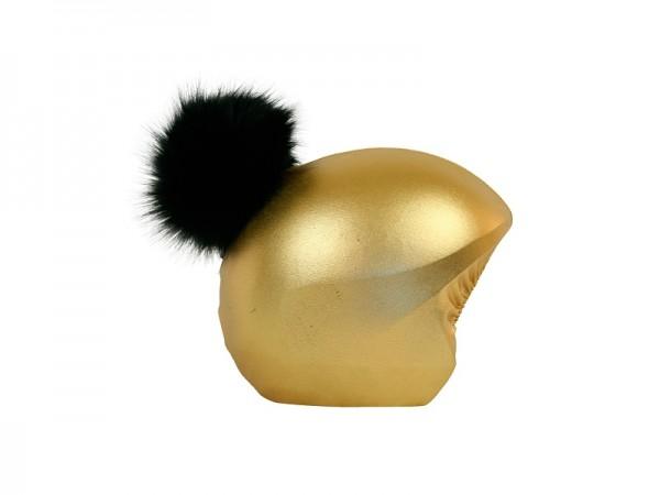 Нашлемник Coolcasc E006 Gold Black ponpon