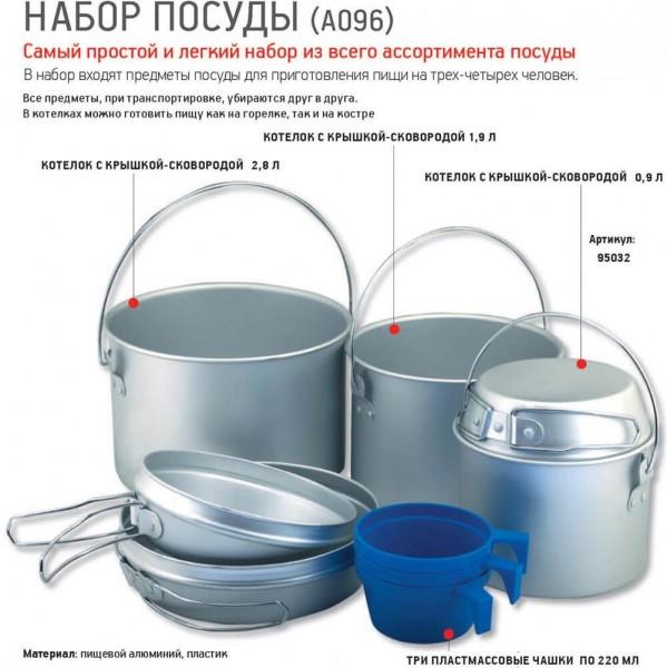 фото Nova tour - Набор туристической посуды A096