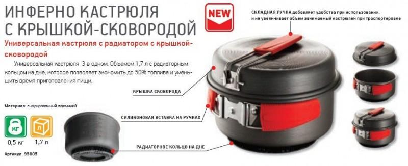фото Nova tour - Кастрюля с крышкой-сковородой Инферно 1,7л