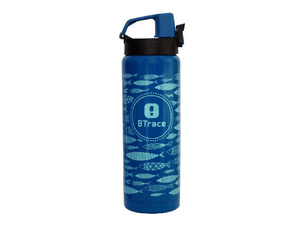 Термос питьевой BTrace 506-600F синий/рис.рыбы 600 мл