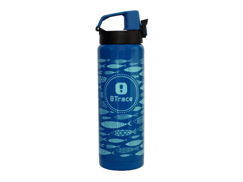 фото Термос питьевой BTrace 506-600F синий/рис.рыбы 600 мл