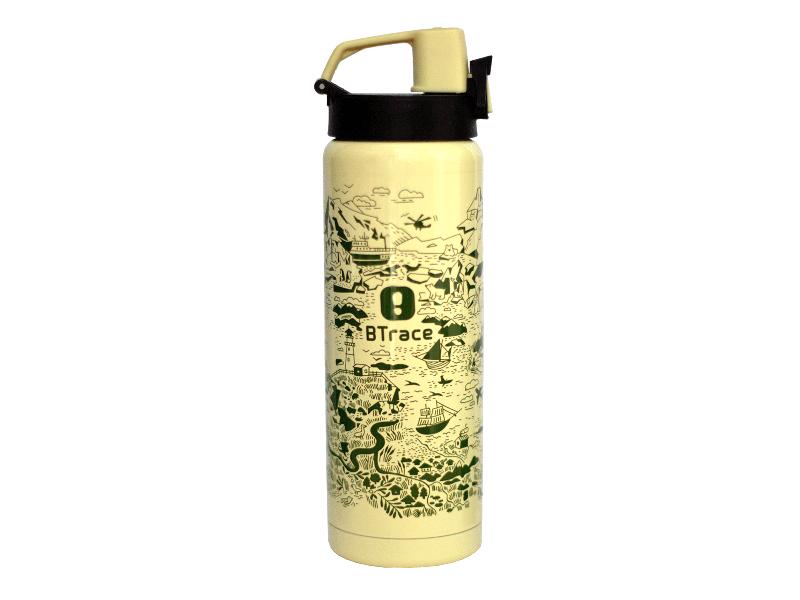 фото Термос питьевой BTrace 506-600M желтый/рис.карта 600 мл