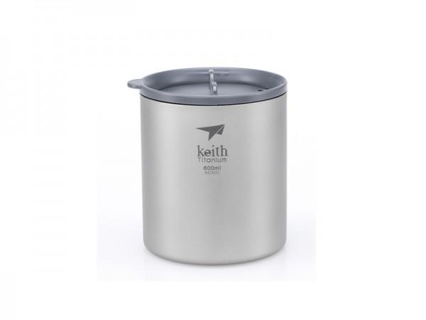 Терморужка Keith Ti3306 Ultralight Mug Titan 600ml