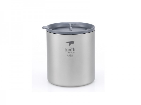 Терморужка Keith Ti3306 Ultralight Mug Titan 600ml