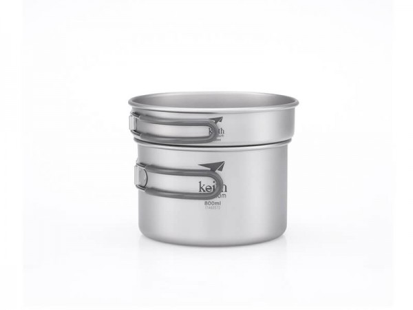 Набор посуды Keith Ti6012 Ultralight 2-piece CookSet 400, 800ml