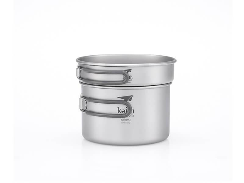 фото Набор посуды Keith Ti6012 Ultralight 2-piece CookSet 400, 800ml