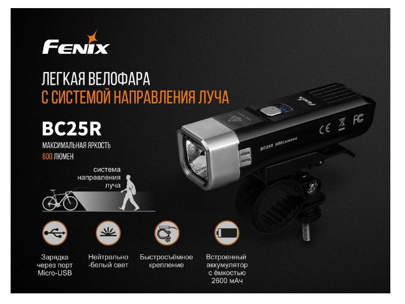 фото Велофара Fenix BC25R Cree XP-G3