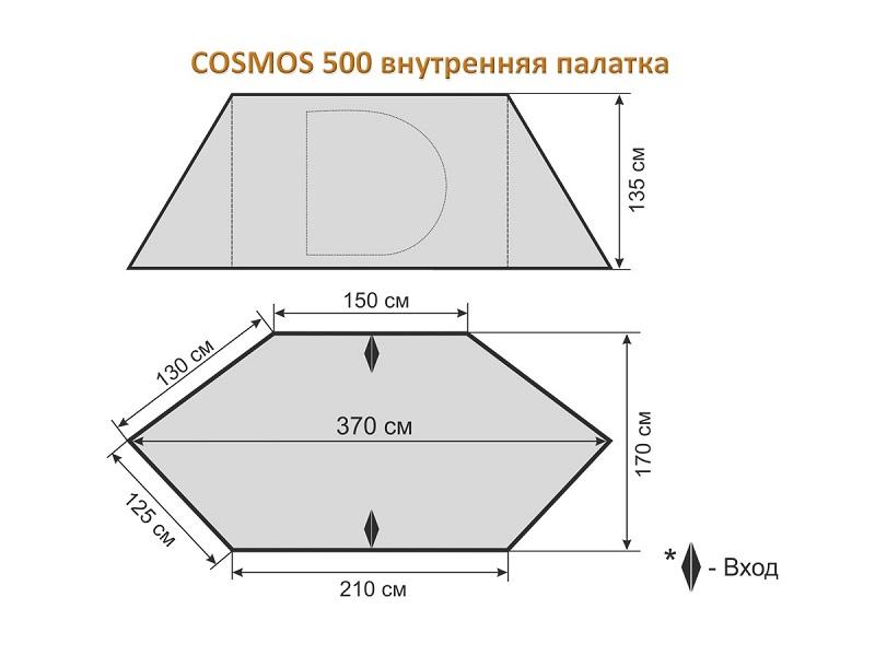 фото Внутренняя палатка для шатра Cosmos 500