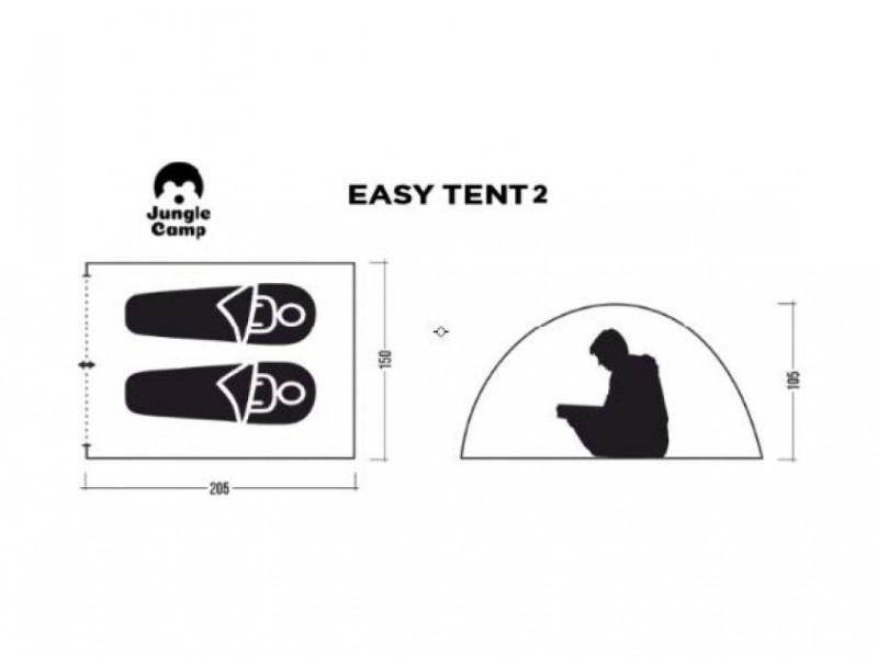 фото Автоматическая палатка Jungle Camp Easy Tent 2