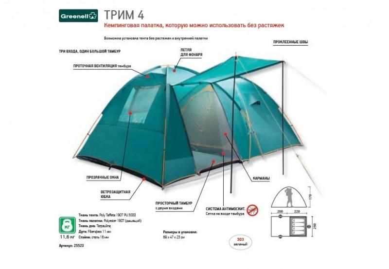 фото Палатка Greenell Трим 4