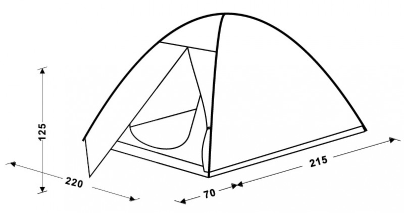 фото King Camp - Палатка трехместная 3021 HIKER Fiber