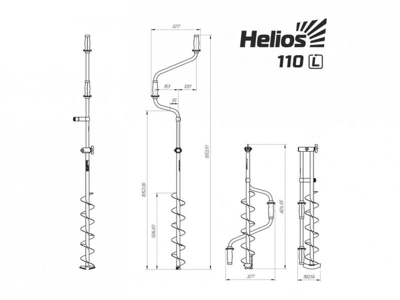 фото Ледобур Helios HS-110D (левое вращение) LH-110LD