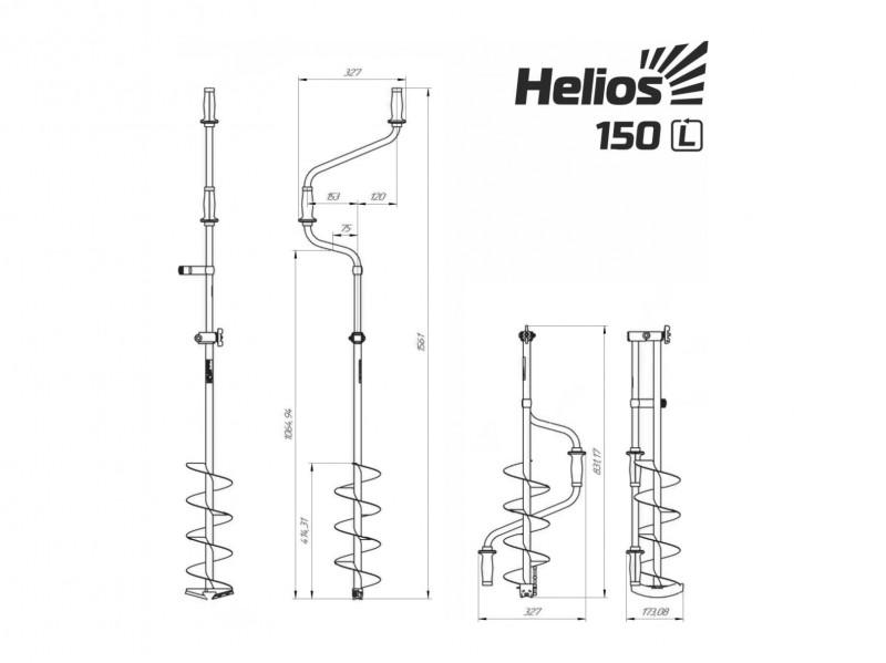 фото Ледобур Helios HS-150D (левое вращение) LH-150LD