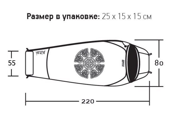 фото Спальный мешок Nova tour Алтай v2 (t°комф. 0)
