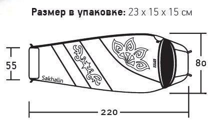 фото Nova tour - Мешок спальный Сахалин V2  (t°комф. 10)