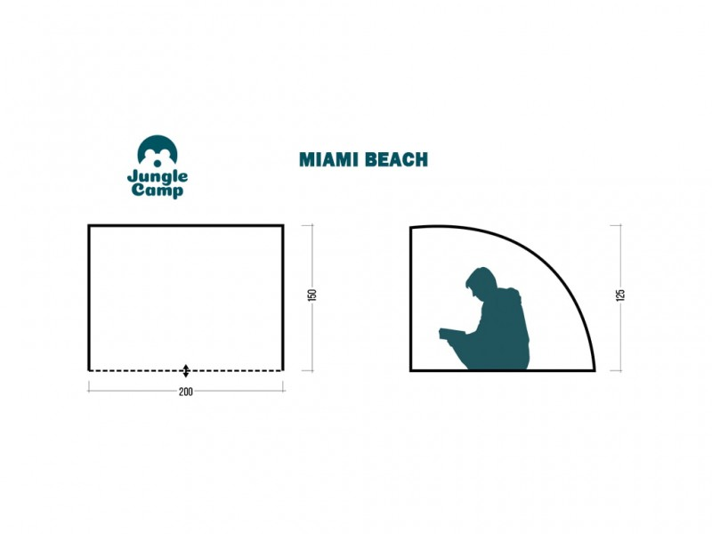 фото Пляжный тент Jungle Camp Miami Beach