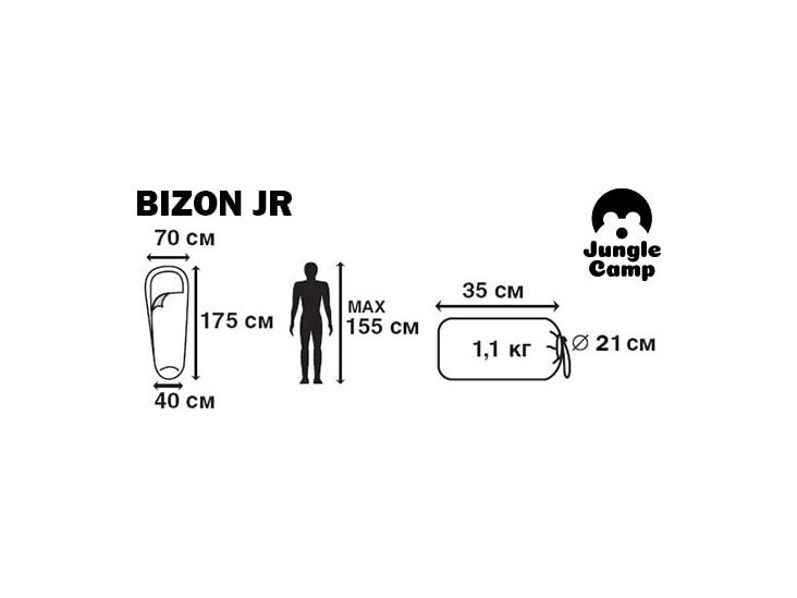 фото Спальный мешок Jungle Camp Bison JR (t°комф. +6)