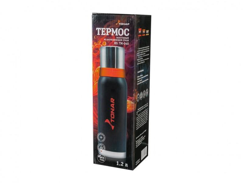 фото Термос 1200мл Тонар HS.TM-040 черный с 2 крышками-кружками