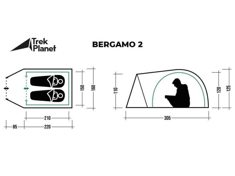 фото Палатка Trek Planet Bergamo 2