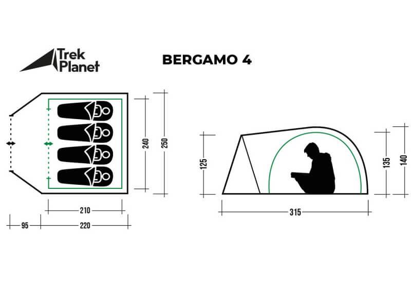 фото Палатка Trek Planet Bergamo 4