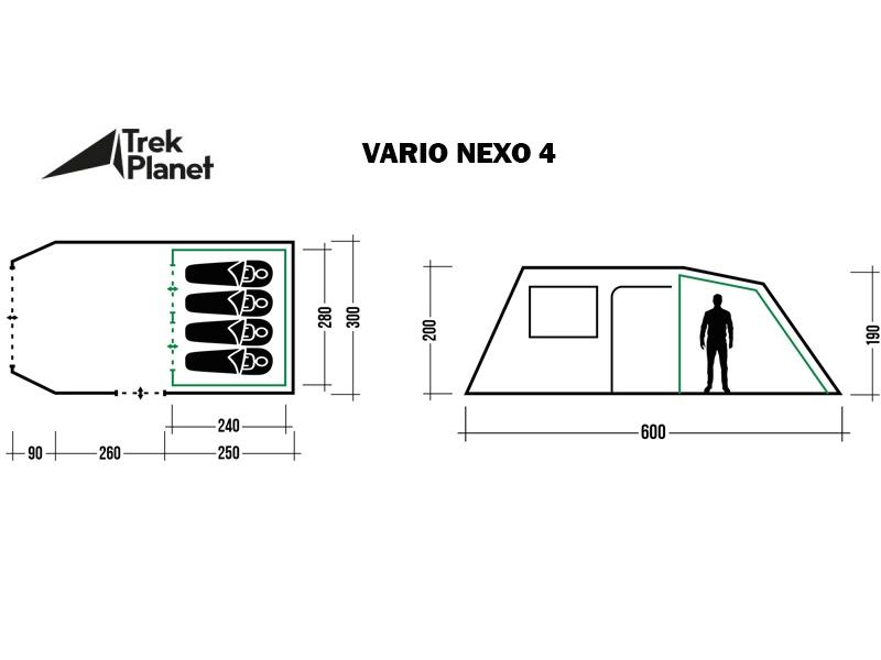 фото Палатка Trek Planet Vario Nexo 4