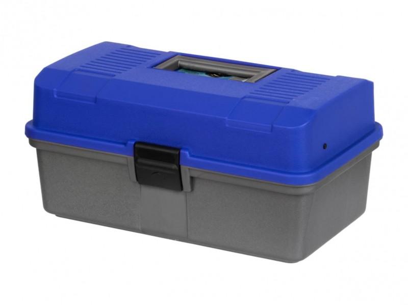 фото Ящик рыболова Helios двухполочный синий