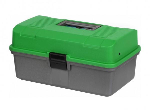 Ящик рыболова Helios двухполочный зеленый