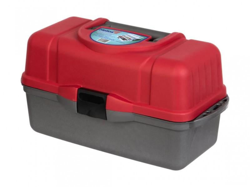 фото Ящик рыболова Helios трехполочный красный